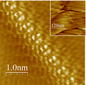 Localized electronic states at grain boundaries on the surface of graphene and graphite