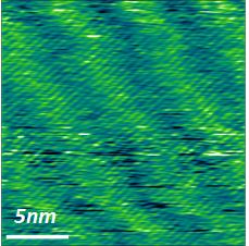 Moiré patterns in graphene–rhenium disulfide vertical heterostructures
